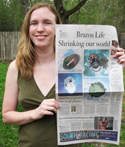 My artwork is the feature story in The Eagle's Brazos Life section, 11/6/11