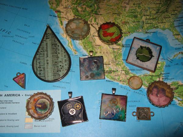 Ice Resin bezel jewelry by Nikki
