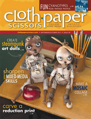 My art is published in Cloth Paper Scissors Sept/Oct 2011 issue