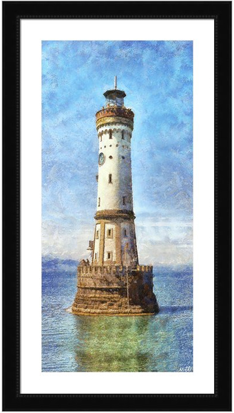Lindau Lighthouse in Germany by Nikki Smith