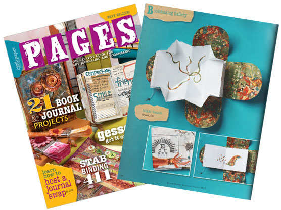 CPS Pages 2012: Papercloth Squid Book by Nikki Smith