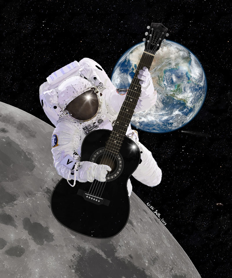 Ground Control to Major Tom; artwork copyright Nikki Smith 2013; All Rights Reserved
