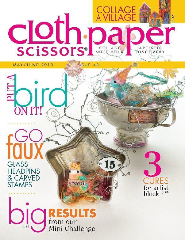 Cloth Paper Scissors, May/June 2013