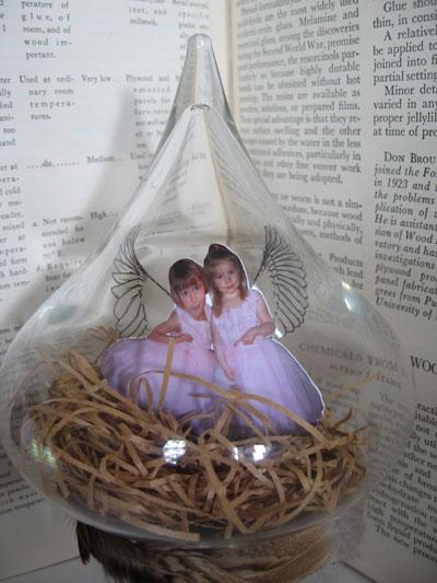 Sister Fairies, under glass