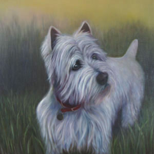 Pet Portrait in Oil by Wanda Hibbs