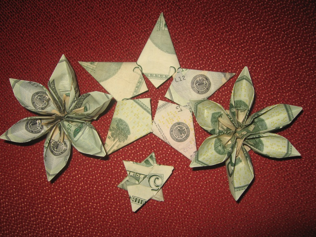 Origami money - graduation gifts
