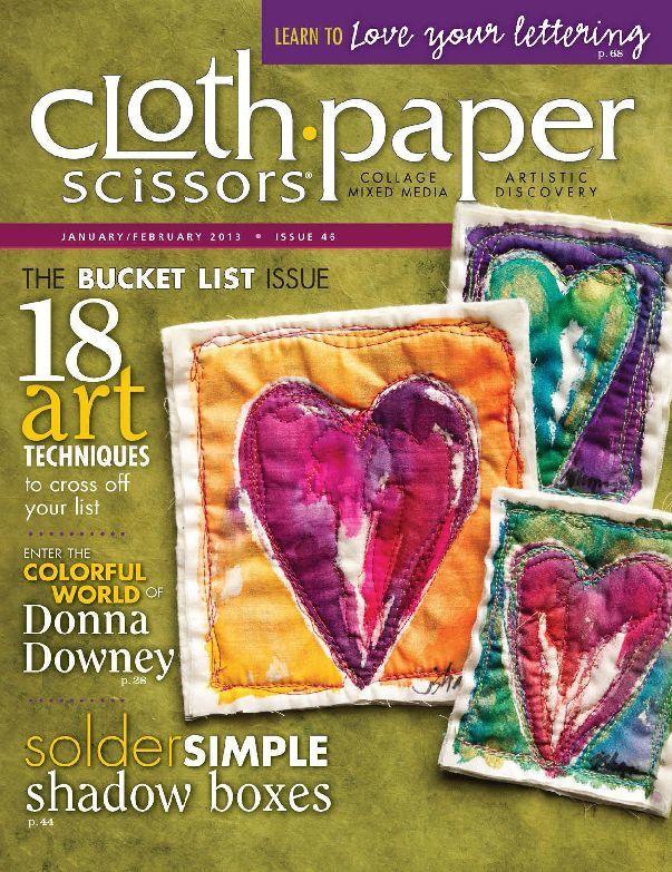 Cloth Paper Scissors, Jan/Feb 2013
