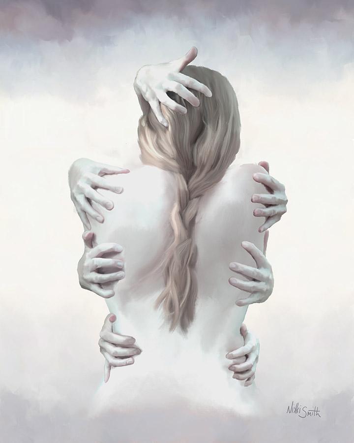 Holding Myself Together, a self-portrait copyright Nikki Smith