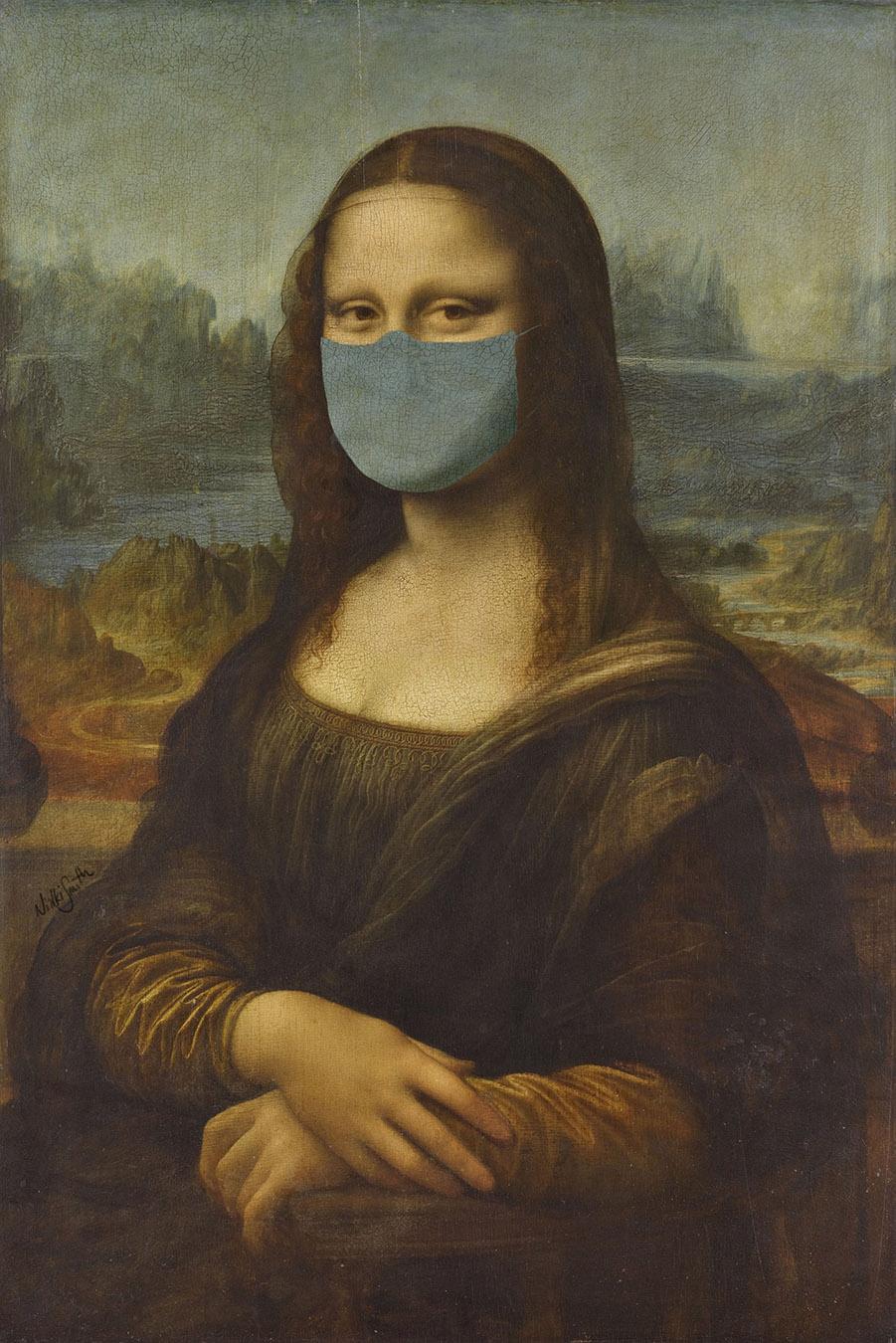 Masked Mona Lisa by Nikki Smith