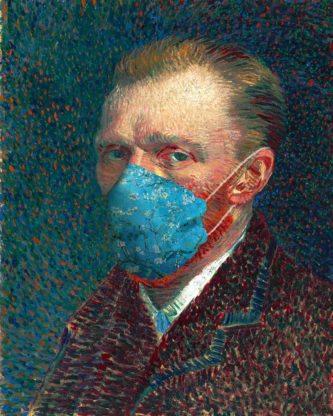 Masked Vincent Van Gogh by Nikki Smith