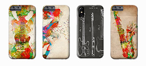 iPhone and Galaxy Phone Cases for art & music lovers